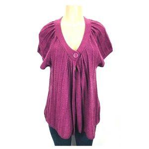 Sonoma Cardigan Sweater One Button Short Sleeve